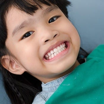 Little boy with tooth-colored fillings